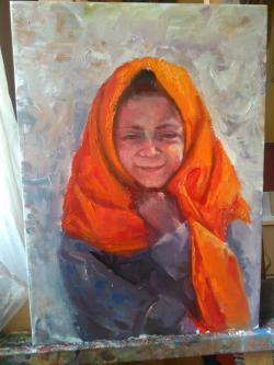Picturi cu potrete/nuduri Bate vântul!