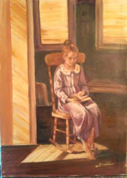 Picturi cu potrete/nuduri După amiază aurie