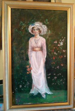 Picturi cu potrete/nuduri English garden
