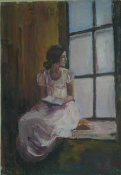 Picturi cu potrete/nuduri La fereastră
