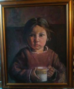 Picturi cu potrete/nuduri Little chinese girl