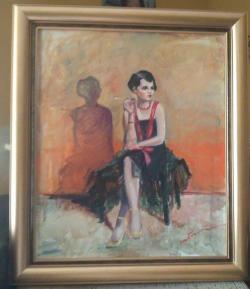 """Picturi cu potrete/nuduri O """"lady"""" la 1930"""