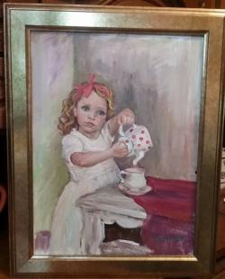 Picturi cu potrete/nuduri Poftiti la un ceai