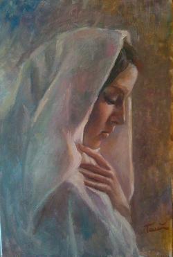 Picturi cu potrete/nuduri Rugaciune din suflet