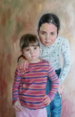 Picturi cu potrete/nuduri dos hermanas