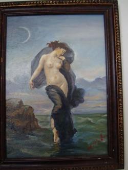 Picturi cu potrete/nuduri in amurg