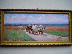 Picturi cu potrete/nuduri Carul cu boi 004