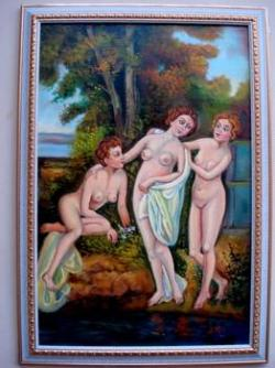 Picturi cu potrete/nuduri Cele trei gratii01