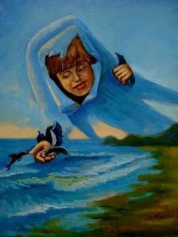 Picturi cu potrete/nuduri Delfinii 01