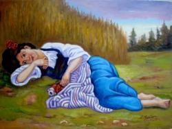 Picturi cu potrete/nuduri Fata din  vise1