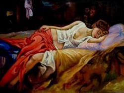 Picturi cu potrete/nuduri Fata dormindd03