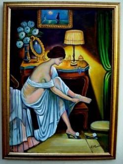 Picturi cu potrete/nuduri Fata se pregateste de bal03