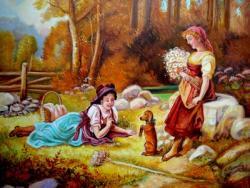 Picturi cu potrete/nuduri Lectie de dresaj 1