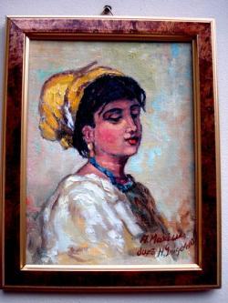 Picturi cu potrete/nuduri Tablou Fata cu basmaua