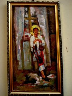 Picturi cu potrete/nuduri Tablou Fata lucrand