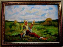 Picturi cu potrete/nuduri Tablou Fata torcand pe plai