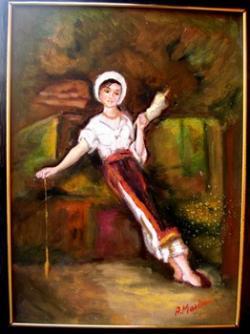 Picturi cu potrete/nuduri Tarancuta cu fuiorul3