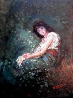 Picturi cu potrete/nuduri Tarancuta in gradina