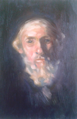Picturi cu potrete/nuduri Portret de evreu batran