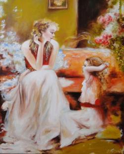 Picturi cu potrete/nuduri poveste de Craciun