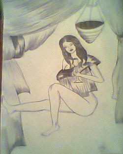 Picturi cu potrete/nuduri Fata de vis