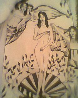Picturi cu potrete/nuduri Nasterea Afroditei