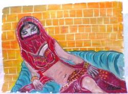Picturi cu potrete/nuduri dansatoare araboaica