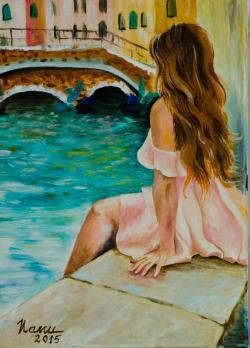 Picturi cu potrete/nuduri Asteptand...