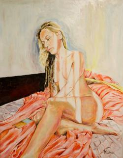 Picturi cu potrete/nuduri Blonda/nud