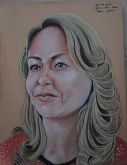 Picturi cu potrete/nuduri Portret femeie pastel sec