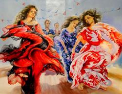 Picturi cu potrete/nuduri dancers