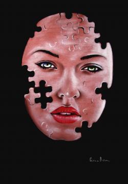 Picturi cu potrete/nuduri puzzle face