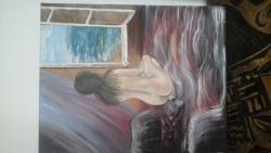 Picturi cu potrete/nuduri nud cu privire spre mare