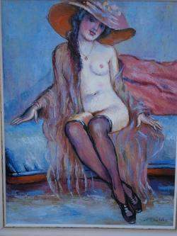 Picturi cu potrete/nuduri femeie in deshabille