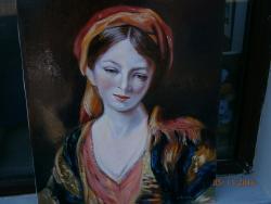 Picturi cu potrete/nuduri femeie in vesmant de epoca