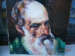 Picturi cu potrete/nuduri portret de batran 2