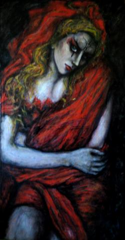 Picturi cu potrete/nuduri Amber girl