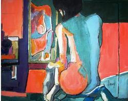 Picturi cu potrete/nuduri Nud spre seara