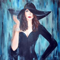 Picturi cu potrete/nuduri Lady in Black