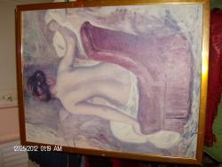 Picturi cu potrete/nuduri NUD SUPERB CU SPATELE NE4