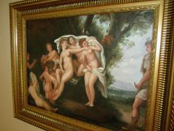 Picturi cu potrete/nuduri tablou nud scena cu ingeri
