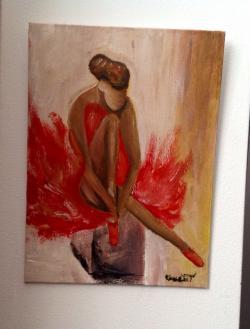 Picturi cu potrete/nuduri Balerina in flacari