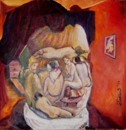 Picturi cu potrete/nuduri Nuduri in stil Tonitza