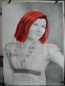 Picturi cu potrete/nuduri portret Teo
