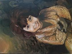 Picturi cu potrete/nuduri Fetita cu ochii mari
