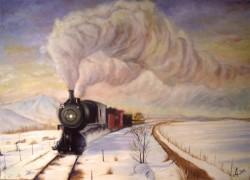 Picturi de iarna Negru pe alb