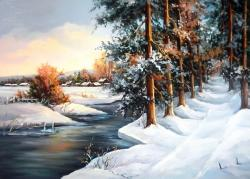Picturi de iarna ALB LA INFINIT (2)