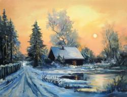 Picturi de iarna CARARI SPRE APUS