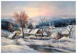 Picturi de iarna CU IARNA IN SAT