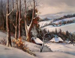 Picturi de iarna CU IARNA LA MUNTE